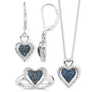 1/10 Ct. T.W. Diamond Heart Jewelry Set