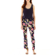 Liz Claiborne® Tipped Tank Top or Print Soft Pants - Tall