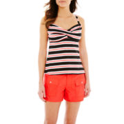 Pure Paradise Striped Twist Tankini Swim Top or Solid Board Shorts