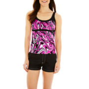 ZeroXposur® Tankini Swim Top or Woven Board Shorts