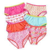 Okie Dokie® 7-pk. Floral Brief Panties - Girls 2t-5t