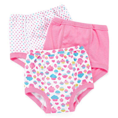 jcpenney.com | Okie Dokie® 3-pk. Training Pants - Girls 2t-3t