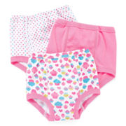 Okie Dokie® 3-pk. Training Pants – Girls 2t-3t