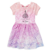 Cinderella Short-Sleeve Bow-Back Dress – Girls 7-16