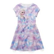 Disney Frozen Short-Sleeve Elsa Skater Dress - Girls 7-16