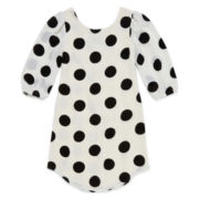 My Michelle® Long-Sleeve Polka Dot Dress - Girls 7-16