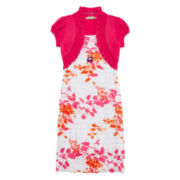 Speechless® Floral Eyelash Shrug Dress - Girls 7-16