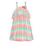 Disorderly Kids® Sleeveless Chevron Dress – Girls 7-16
