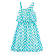 Disorderly Kids® One-Shoulder Chevron Dress – Girls 7-16