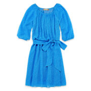 Speechless® Tie Waist Blue Peasant Dress — Girls 7-16