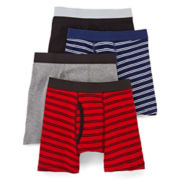 Arizona 4-pk. Striped Boxer Briefs – Boys 2-20
