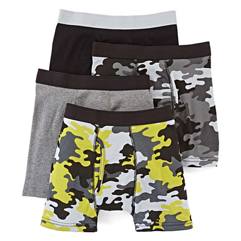 Arizona 4-pk. Camo Boxer Briefs – Boys 2-20