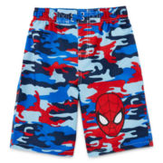 Spiderman Swim Trunks - Boys 2t-5t