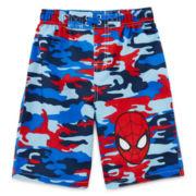 Spiderman Swim Trunks - Boys 2t-5t