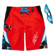 ZeroXposur Tahiti Swim Trunks and Goggles –Boys 4-7