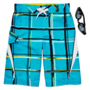 ZeroXposur® Amped Swim Trunks and Goggles – Boys 8-20
