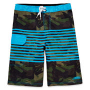 Blue Camo Swim Shorts - Boys 8-20