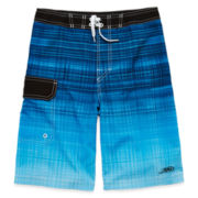Blue Ombre Stretch Swim Shorts - Boys 8-20