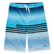 Blue Stripe Stretch Swim Shorts – Boys 8-20