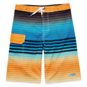 Orange Stripe Stretch Swim Shorts – Boys 8-20