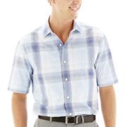 Claiborne® Short-Sleeve Woven Shirt