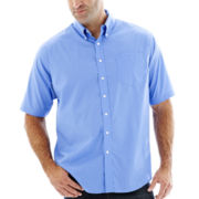 Dockers® Short-Sleeve Solid Woven Shirt–Big & Tall