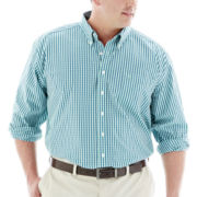 Dockers® Long-Sleeve Mini-Check Shirt–Big & Tall