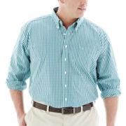 Dockers® Long-Sleeve Mini-Check Shirt–Big & Tall