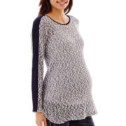 Maternity Long-Sleeve Bubble Sweater - Plus