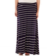 by&by Striped Maxi Skirt - Plus