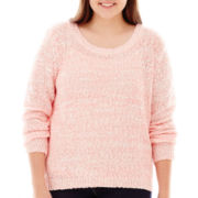 Arizona Long-Sleeve Marled Sweater - Plus
