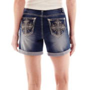 Love Indigo Cross Back Pocket Denim Shorts