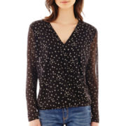 MNG by Mango® Long-Sleeve Star Print Blouse