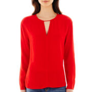 MNG by Mango® Long-Sleeve Keyhole Blouse