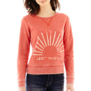 Levi's® Long-Sleeve Mineral Wash Pullover Sweatshirt