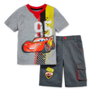 Disney Collection Cars Tee and Shorts Set – Boys 2-10