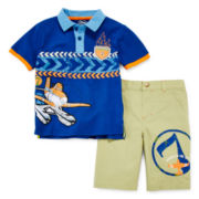 Disney Collection Planes Shorts Set - Boys 2-10