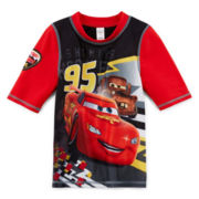 Disney Collection Cars Rash Guard - Boys 2-10