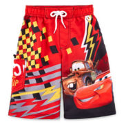 Disney Collection Cars Swim Trunks – Boys 2-10