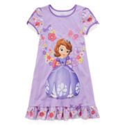 Disney Collection Sofia the First Nightshirt – Girls 2-10