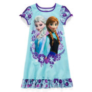 Disney Collection Frozen Nightshirt - Girls 2-10