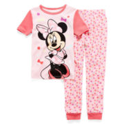 Disney Collection 2-pc. Minnie Mouse Pajama Set - Girls 2-10