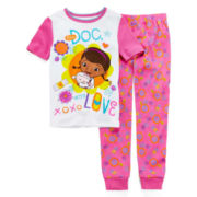 Disney Collection 2-pc. Doc McStuffins Pajama Set – Girls 2-10