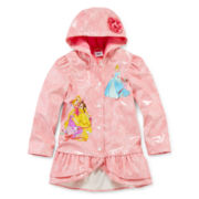 Disney Collection Princess Rain Jacket – Girls 2-10