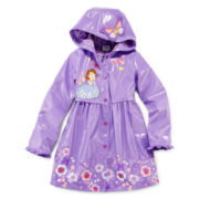 Disney Collection Sofia the First Rain Jacket – Girls 2-10