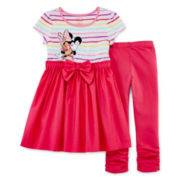 Disney Collection Minnie Mouse Dress Set – Girls 2-10