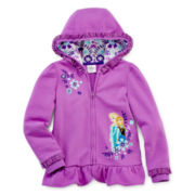 Disney Collection Frozen Fleece Jacket – Girls 2-10
