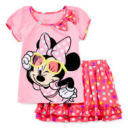 Disney Collection Minnie Mouse Top and Skirt Set - Girls 2-10