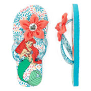 Disney Collection Little Mermaid Flip Flops - Girls
