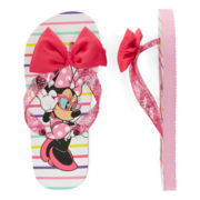 Disney Collection Minnie Mouse Flip Flops - Girls